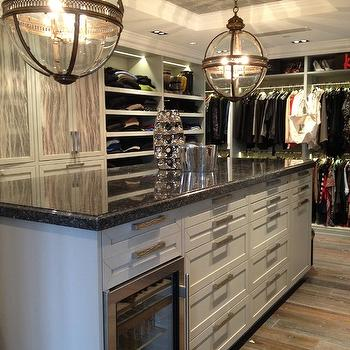Closet Island,  Contemporary, closet, LA Closet Design