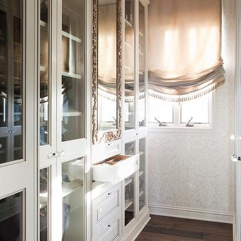 Glass Front Cabinets, Transitional, closet, LA Closet Design