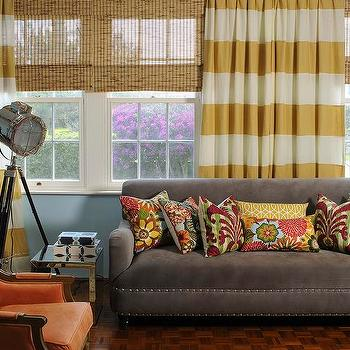 Design Pretty - living rooms - Iman home fabrics, horizontal striped linen drapes, custom window treatments, horizontal striped curtains, horizontal striped drapes, striped curtains, striped drapes, white and yellow drapes, white and yellow curtains, white and yellow striped drapes, white and yellow striped curtains,