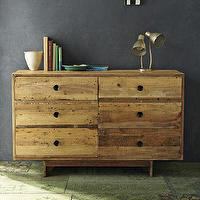 Storage Furniture - Emmerson 6 Drawer Dresser | west elm - reclaimed, pine, rustic, wax, finish, shipping, palettes, dresser