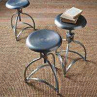 Seating - Metal Industrial Stool | west elm - industrial, adjustable, metal, aluminum, stool, bar, counter, reclaimed,