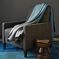 Bedding - Color Block Blanket + Shams | west elm - light, gray, dark, gray, turquoise, color, block, blanket,