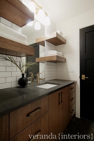 Chocolate Brown Bathroom Cabinets Contemporary