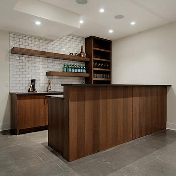 Wet Bar Basement, Contemporary, basement, Veranda Interiors