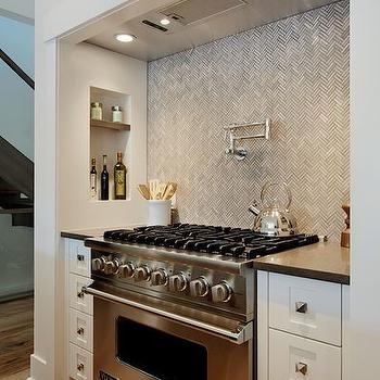 Herringbone Backsplash, Contemporary, kitchen, Veranda Interiors