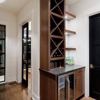 Built In Wine Rack, Contemporary, kitchen, Veranda Interiors
