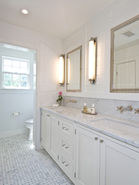 Wall Mounted Faucets Cottage Bathroom Hampton Design