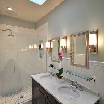 Double Bathroom Vanity, Traditional, bathroom, Benjamin Moore Quiet Moments, Brooklyn Limestone