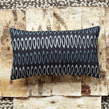 Pillows - Allegra Hicks Drop Links Crewel Pillow Cover | west elm - blue, navy, crewel, link, pillow, cover