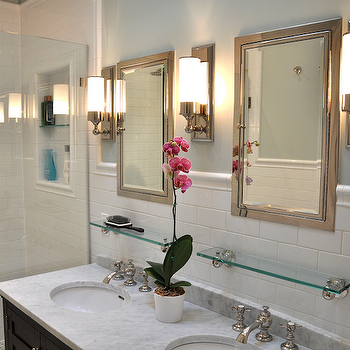 Marble Double Vanity, Traditional, bathroom, Benjamin Moore Quiet Moments, Brooklyn Limestone