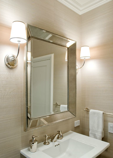 Vendome Sconce Transitional bathroom Sutro Architects