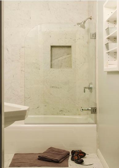 Glass shower partition contemporary bathroom sutro - Bathroom glass partition designs ...
