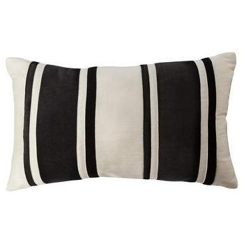 Pillows - Black and Cream Striped Bolster I Target - faux, suede, pillow, cream, bolster, black, striped