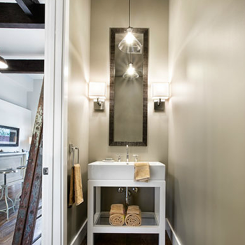 Restoration Hardware Washstand, Contemporary, bathroom, Sutro Architects