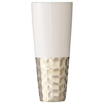 Decor/Accessories - Cream and Gold Vase I Target - cream, gold, hammered, earthenware, glazed, vase