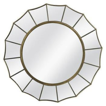 Mirrors - Threshold Starburst Mirror I Target - starburst, mirror, gold,