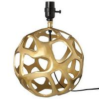 Lighting - Gold Lamp Base I Target - modern, gold, sphere, lamp, base,