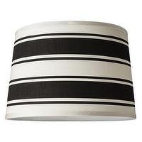 Lighting - Stripe Lamp Shade I Target - black, white, striped, linen, drum, shade,
