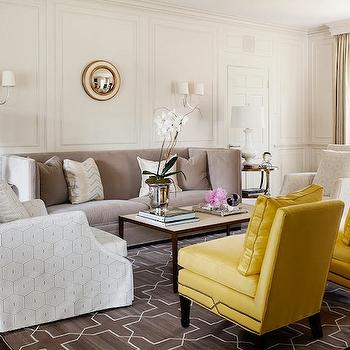 Yellow and Gray Living Room, Transitional, living room, Courtney Hill Interiors