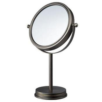 Mirrors - Threshold Brass Antique Pewter Mirror I Target - antique, pewter, makeup, mirror, brass