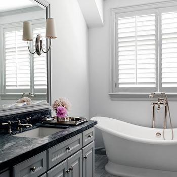 Gray Bathroom, Contemporary, bathroom, Courtney Hill Interiors