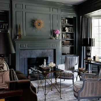 Wood Paneled Den, Traditional, den/library/office, Courtney Hill Interiors