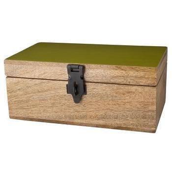 Decor/Accessories - Decorative Storage Box I Target - natural, wooden, box, storage, green, lacquer