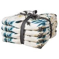 Decor/Accessories - Threshold Printed Fern Towels I Target - fern, bath, towels, cream, blue, yellow