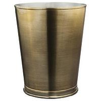Decor/Accessories - Threshold Bathroom Wastebasket I Target - brass, iron, wastebasket,