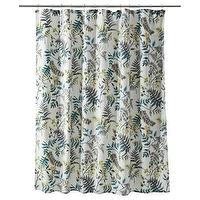 Decor/Accessories - Threshold Fern Shower Curtain I Target - fern, floral, shower, curtain, cream, yellow, gray, blue