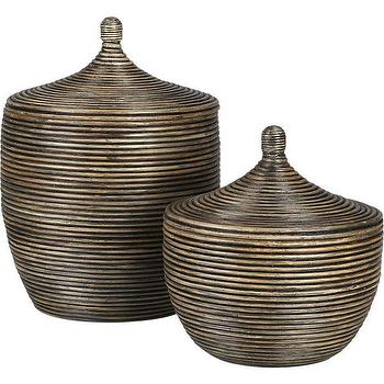 Decor/Accessories - Kez Lidded Baskets | Crate and Barrel - rattan, baskets,