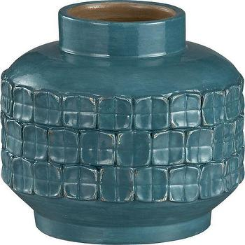 Decor/Accessories - Vianni Vase in Vases | Crate and Barrel - turquoise, vase,