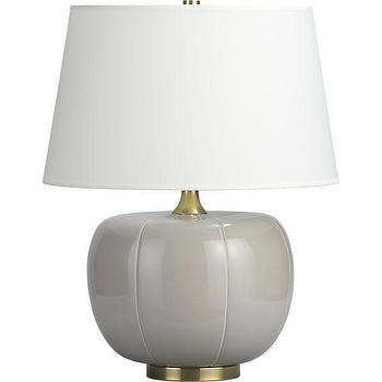 Lighting - Pepita Table Lamp | Crate and Barrel - gray, table, lamp, Asian,