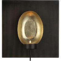 Decor/Accessories - Tuvala Wall Sconce | Crate and Barrel - wall, sconce, candle, candleholder, gold, iron,
