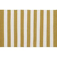 Rugs - Olin Gold Rug | Crate and Barrel - striped, rug, gold, mustard, ivory