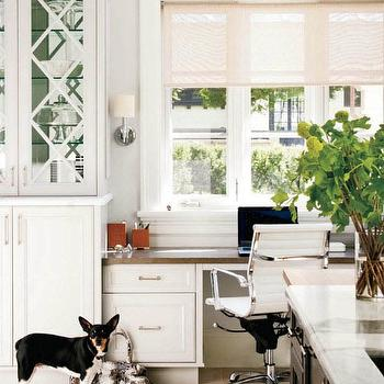 Built In Kitchen Desk, Contemporary, den/library/office, Style at Home