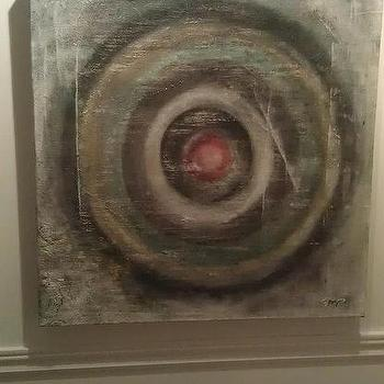 Art/Wall Decor - Vintage Target Oil and Acrylic on Canvas by 13WestDesign - Etsy - vintage, art, canvas, target,