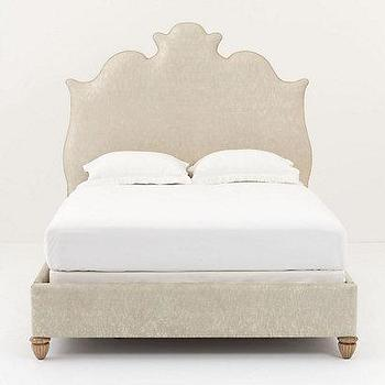 Beds/Headboards - Gilded Linen Bed - Anthropologie.com - antique, linen, bed, metallic, cotton, gold