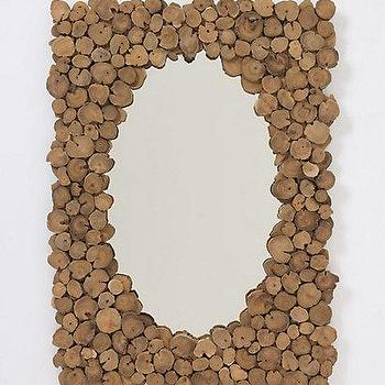 Sliced Teak Mirror, Anthropologie.com