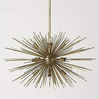 Lighting - Satellite Chandelier - Anthropologie.com - mid-century, satellite, chandelier, brass, steel,