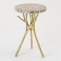 Tables - Beach Bramble Side Table - Anthropologie.com - shells, gold, twig, branch, accent, side, table,