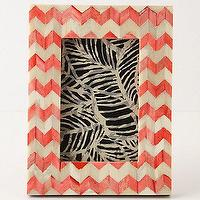 Decor/Accessories - Chevron Frame - Anthropologie.com - coral, pink, chervon, inlaid, frame, bone,