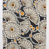 Rugs - Tufted Gingko Rug - Anthropologie.com - gray, yellow, rug, ginko, tufted, graphic,