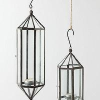 Decor/Accessories - Atrium Lantern - Anthropologie.com - hanging, lanterns, vintage, metal, terrarium, glass, candleholders,