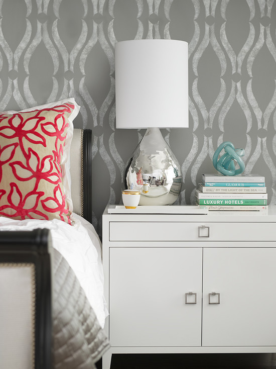 Phillip Jeffries Arches Wallpaper Contemporary Bedroom