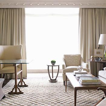 Crown Dentil Molding, Traditional, living room, Phoebe Howard