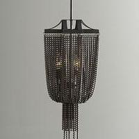 "Lighting - ""Marcello"" Pendant - Horchow - iron, strands, pendant, bronze, finish, chandelier,"