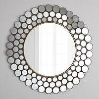 "Mirrors - ""Mirrored Circles"" Accent Mirror - Horchow - mirrored, circles, mirror, concentric, round"