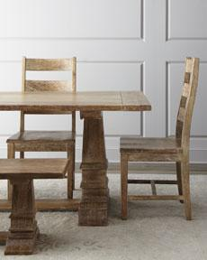 "Tables - ""Santa Rosa"" Dining Furniture - Horchow - rustic, traditional, table, dining, mango, wood,"