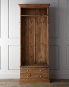 "Storage Furniture - ""Sagebrush"" Hall Tree - Horchow - hall, tree, mudroom, storage, entryway, pine, reclaimed,"